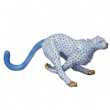 Herend Porcelain Fishnet Figurine of a Guepard